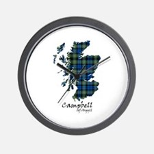 Map - Campbell of Argyll Wall Clock