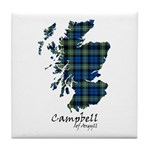 Map - Campbell of Argyll Tile Coaster