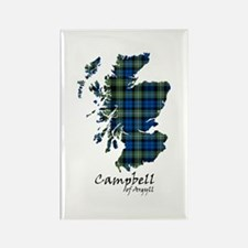 Map - Campbell of Argyll Rectangle Magnet