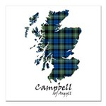Map - Campbell of Argyll Square Car Magnet 3