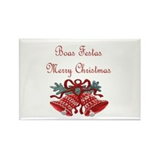 Portuguese Christmas Rectangle Magnet (100 pack)