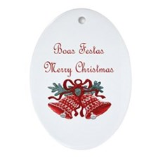 Portuguese Christmas Oval Ornament