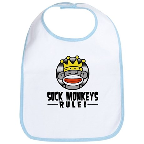 Sock Monkeys Rule Bib