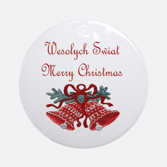 Polish Christmas Ornament (Round)