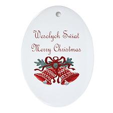 Polish Christmas Oval Ornament