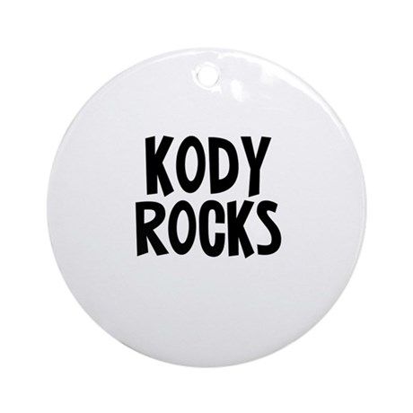 Kody Rocks Ornament (Round)