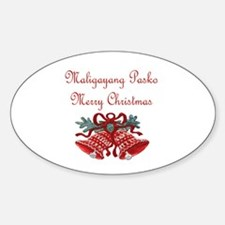 Filipino Christmas Oval Decal