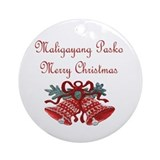 Filipino christmas Round Ornaments