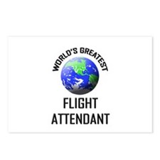 World's Greatest FLIGHT ATTENDANT Postcards (Packa