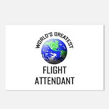 World's Greatest FLIGHT ATTENDANT Postcards (Packa