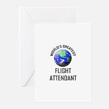 World's Greatest FLIGHT ATTENDANT Greeting Cards (
