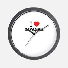 I Love SAVANAH Wall Clock