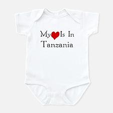 My Heart Is In Tanzania Infant Bodysuit