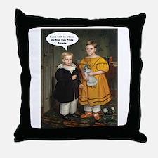 Cute Retro humor Throw Pillow