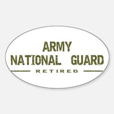 Retired Guard Oval Decal
