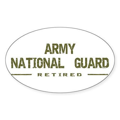 Retired Guard Oval Sticker