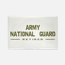 Retired Guard Rectangle Magnet