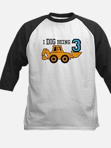 I Dig Being 3 Kids Baseball Jersey