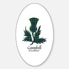 Thistle - Campbell of Breadalbane Sticker (Oval)