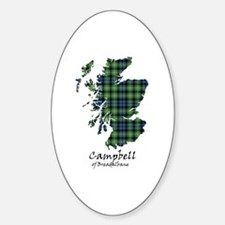 Map - Campbell of Breadalbane Sticker (Oval)