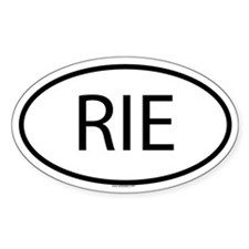 RIE Oval Decal
