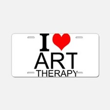 I Love Art Therapy Aluminum License Plate