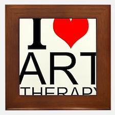 I Love Art Therapy Framed Tile