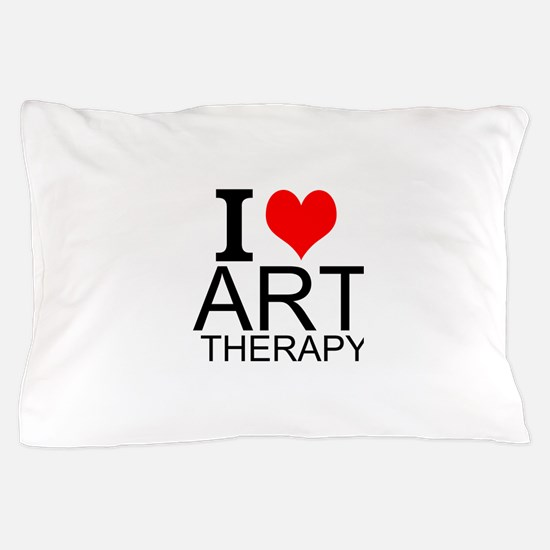 I Love Art Therapy Pillow Case