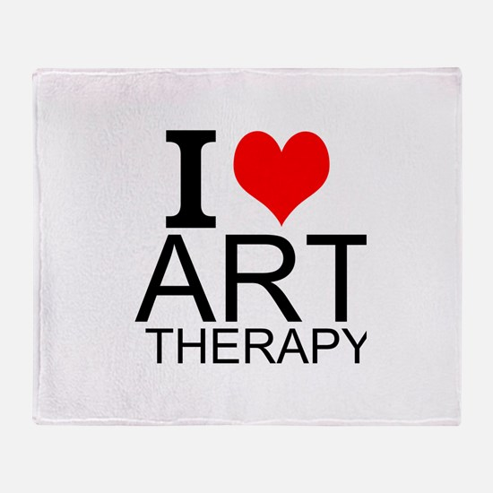 I Love Art Therapy Throw Blanket