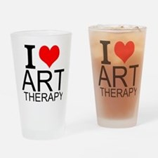 I Love Art Therapy Drinking Glass