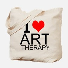 I Love Art Therapy Tote Bag