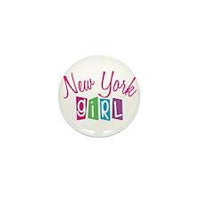 NEW YORK GIRL! Mini Button (100 pack)