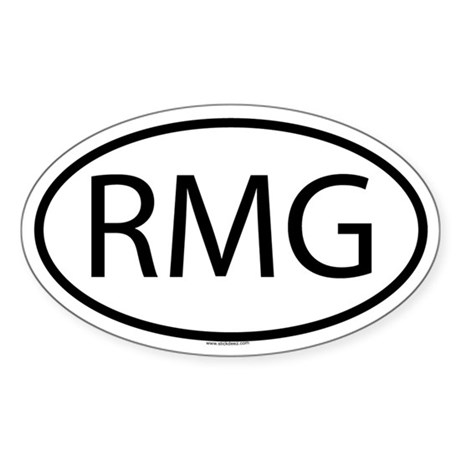RMG Oval Sticker