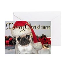 CARD -  Pug Christmas Card (Pk of 10)
