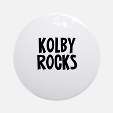 Kolby Rocks Ornament (Round)