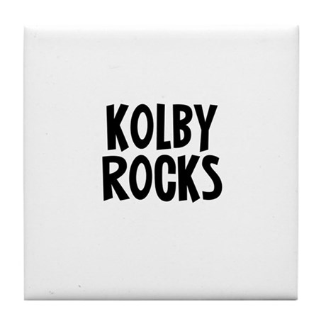 Kolby Rocks Tile Coaster