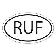 RUF Oval Decal