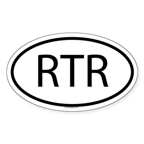RTR Oval Sticker
