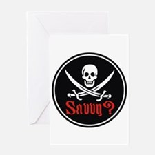 Savvy? Pirate Flag Greeting Card