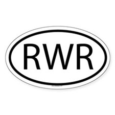 RWR Oval Decal