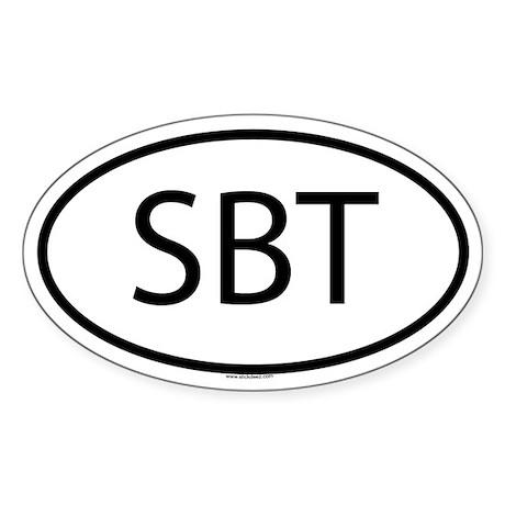 SBT Oval Sticker