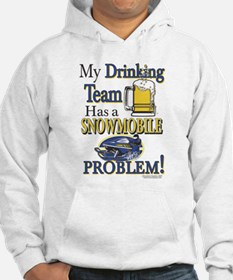 New Snowmobile Drinking Team Hoodie