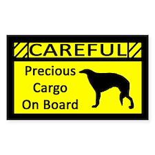 Precious Cargo Borzoi Sticker (Rect)