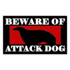 Beware of Attack Dog Borzoi Decal