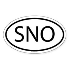 SNO Oval Decal