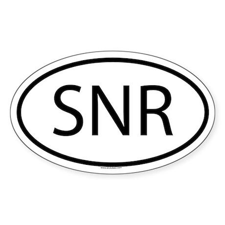 SNR Oval Sticker