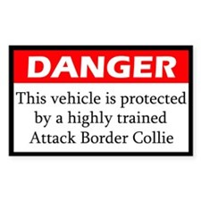 Attack Border Collie Decal