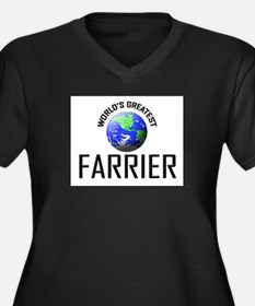World's Greatest FARRIER Women's Plus Size V-Neck