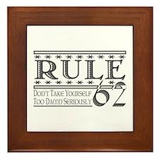 Rule 62 Alcoholism Saying Framed Tile