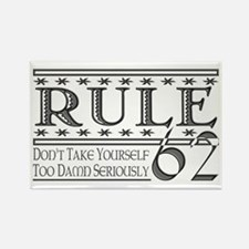 Rule 62 Alcoholism Saying Rectangle Magnet (10 pac
